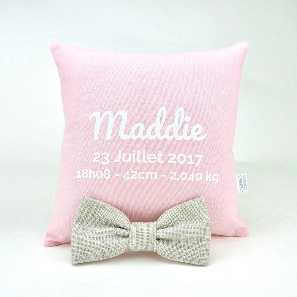 Coussin-Naissance-Little-Chéris-Rose